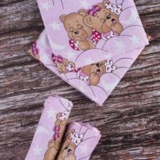 Детская пеленка бязь 1 шт Соня розовый артикул 1286/2