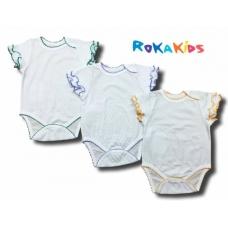 "Боди (""кроше"", короткие рукава, кнопки рукава опиковка) RoKaKids артикул БКККЖ"