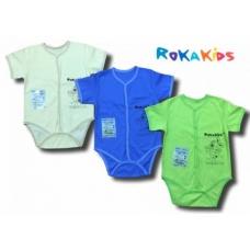 Кофта-боди (короткие рукава, принт, кнопки) RoKaKids  артикул КБКПКИП