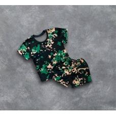 "Комплект ""Камуфляж"" (футболка и шорты) RoKaKids артикул К77Кр"