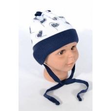 Шапка детская на трикотажной подкладке для девочек ( осень-весна) артикул 600J04