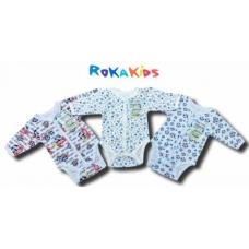 Кофточка-боди (длинные рукава) на кнопках RoKaKids артикул КБДККп