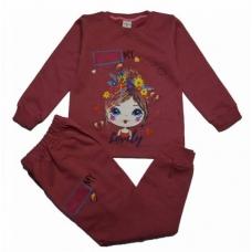 Пижама/домашний костюм для девочек начес артикул 9186
