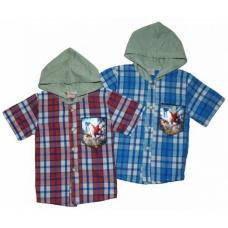Рубашка летняя для мальчиков с капюшоном артикул 4567