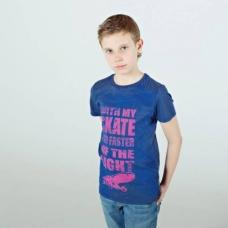 Синяя футболка с ярким принтом для мальчика Bossa Nova артикул 267И-165