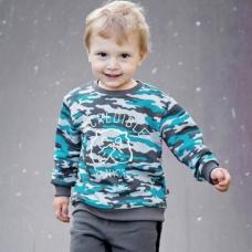 Свитшот 'Фрэнки' для мальчика начес Bossa Nova артикул 210б-472